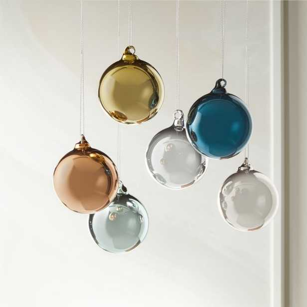 Metallic Pastel Ornaments Set of 6 - CB2