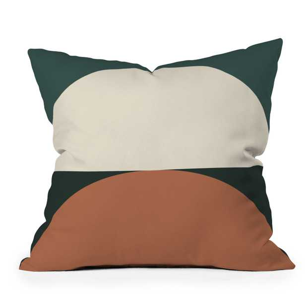 """Abstract Geometric 01e by The Old Art Studio - Outdoor Throw Pillow 18"""" x 18"""" - Wander Print Co."""