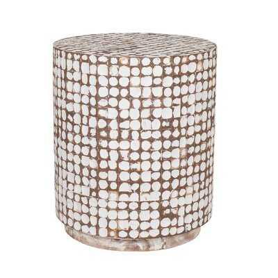 Teres Solid Wood Drum End Table - Wayfair