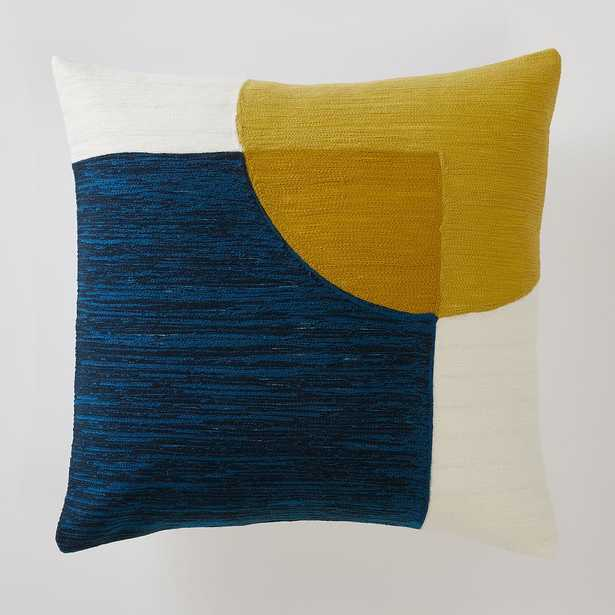 """WE Crewel Overlapping Shapes Pillow Cover & Insert, 18"""" x 18"""" - Pottery Barn Teen"""