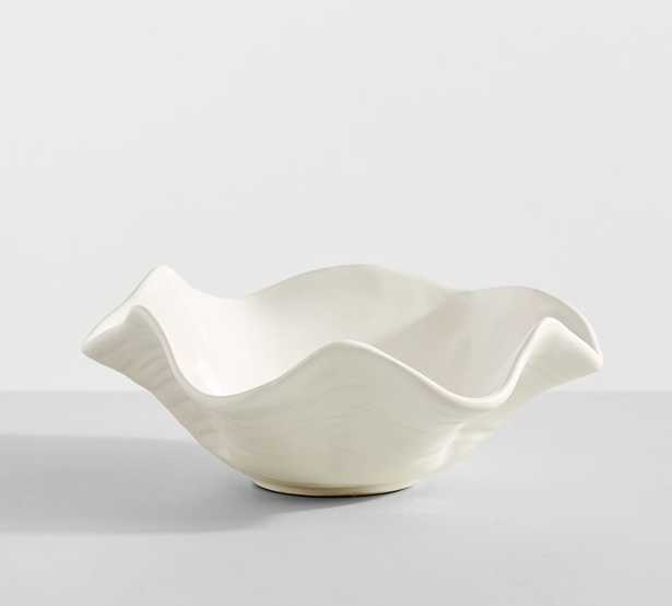 Handcrafted Ceramic Clam Bowl, Small, White - Pottery Barn