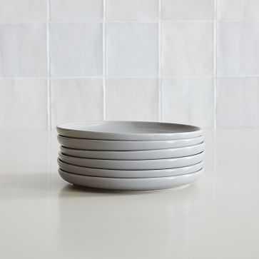 Stoneware Dinnerware, Salad Plate, Frost Gray, Set of 6 - West Elm