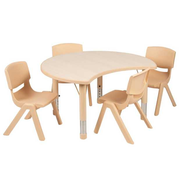 Carnegy Avenue Natural Kids' Table & Chair Set - Home Depot
