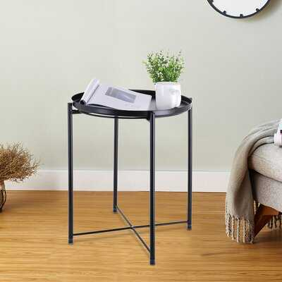 Tray Metal End Table, Sofa Table Small Round Side Tables,Anti-Rusty - Wayfair
