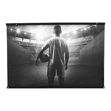 Black and White Soccer Wall Mural, 3'x4' - Pottery Barn Teen
