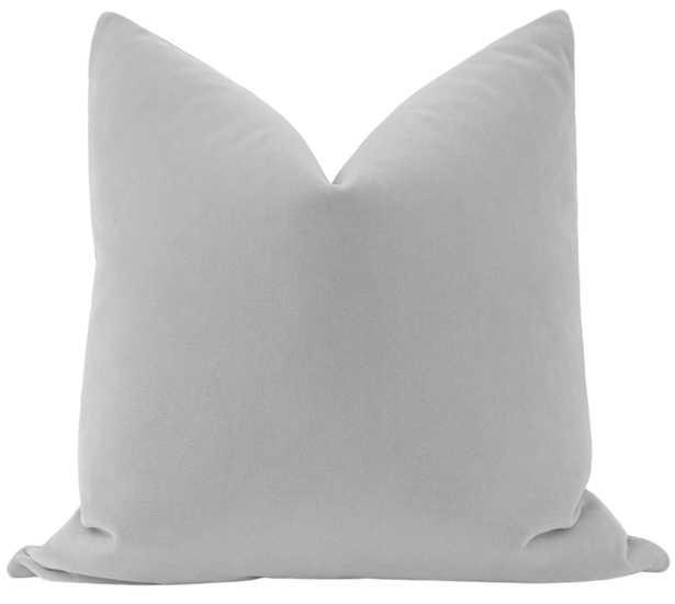 """Mohair Velvet // Dove Grey - 18"""" X 18"""" - Little Design Company"""