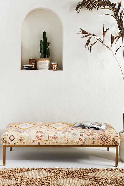 Rug-Printed Folkthread Ottoman By Anthropologie in Assorted - Anthropologie