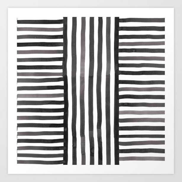 Silk Weave In Black And White Art Print by Becky Bailey - MEDIUM - Society6