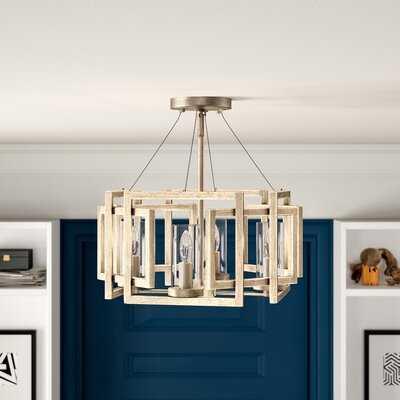 """Wightman 4-Light 16"""" Chandelier Style Geometric Semi Flush Mount - Wayfair"""