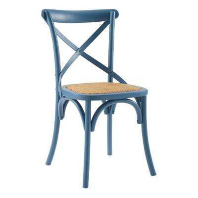 Gayla Solid Wood Cross Back Side Dining Chair - Wayfair