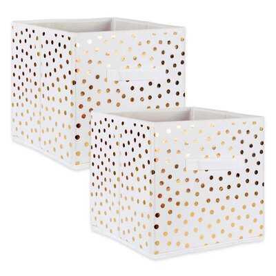 Small Dots Nonwoven 2 Piece Fabric Cube Set - Wayfair