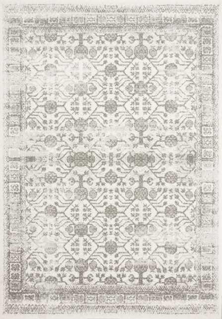 """Joaquin Rug, 7'10"""" x 10'10"""", Ivory & Gray - Loma Threads"""