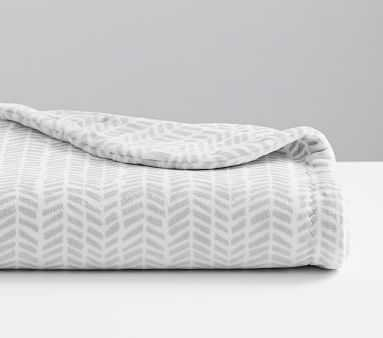 Chamois Broken Arrow Baby Blanket, Grey - Pottery Barn Kids