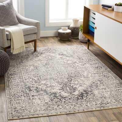 Witten Distressed Charcoal/Cream Area Rug - Wayfair
