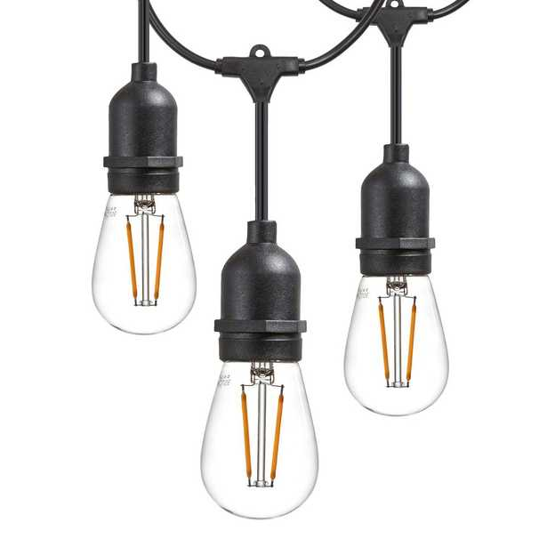 48 ft. 2-Watt Outdoor Weatherproof LED String Light with S14 LED Filament Light Bulbs Included - Home Depot