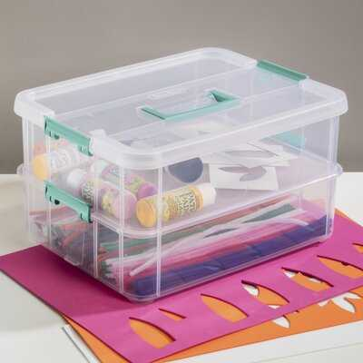 Stack and Carry 2 Layer Handle Plastic Box (Set of 4) - Wayfair
