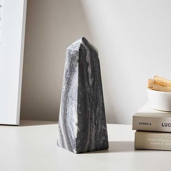 Gideon Obelisks, Small, Gray Marble - West Elm