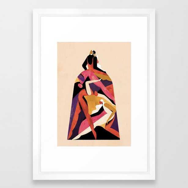 Caetana Framed Art Print by Willian Santiago - Vector White - SMALL-15x21 - Society6