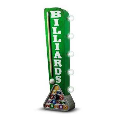 Billiards Pool Cue LED Marquee Sign - Wayfair