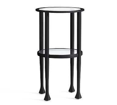Tanner Round Accent Table, Bronze - Pottery Barn