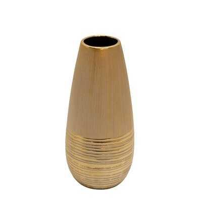 Highbridge Gold Ceramic Table Vase - Wayfair