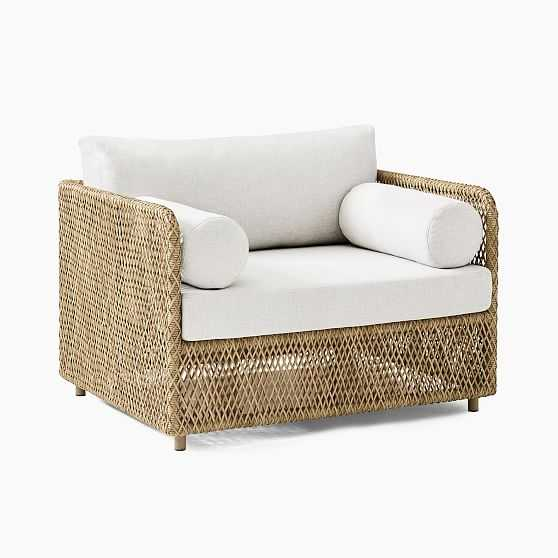 Coastal Lounge Chair, All Weather Wicker, Natural - West Elm