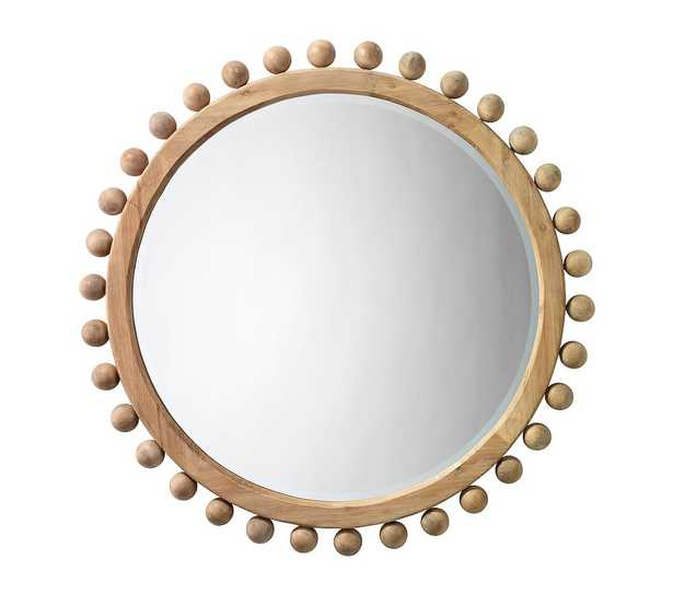 """Pacific Wooden Wall Mirror, 36"""", Round - Pottery Barn"""