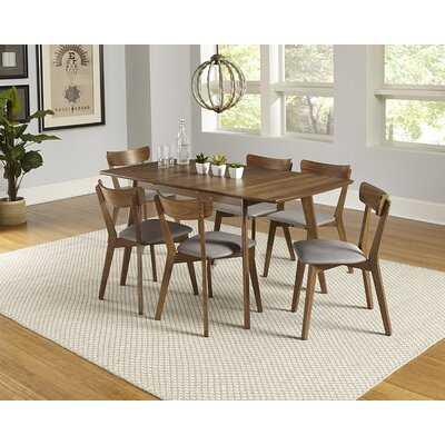 Rockaway 7 Piece Extendable Solid Wood Dining Set - Wayfair