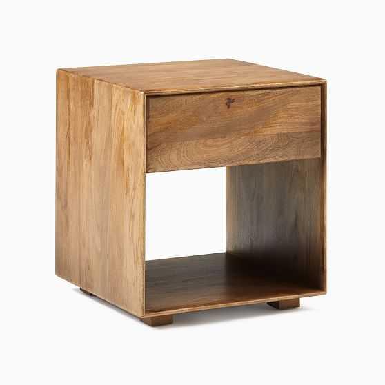 Anton Solid Wood Side Table, Burnt Wax - West Elm