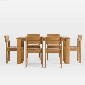 Playa Outdoor Dining Table + Chairs Set - West Elm