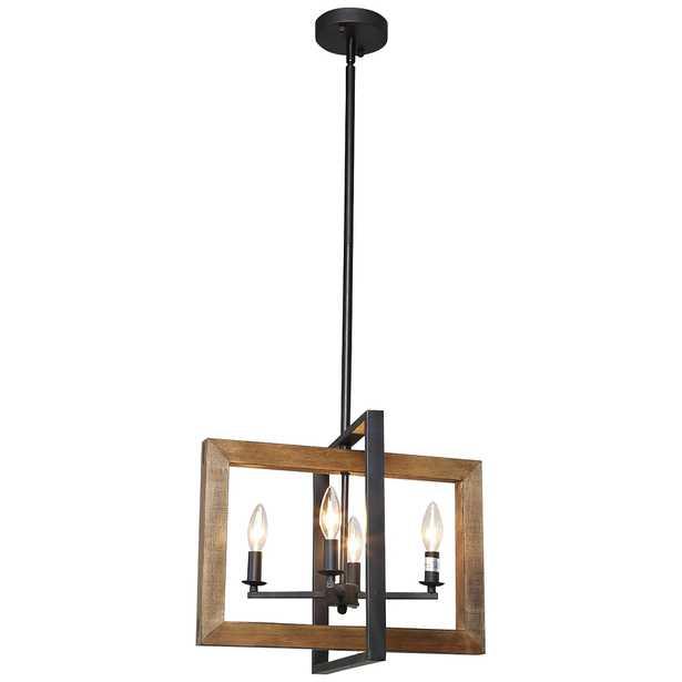 "Obilla 18"" Wide Black 4-Light Candle Chandelier - Style # 85J52 - Lamps Plus"