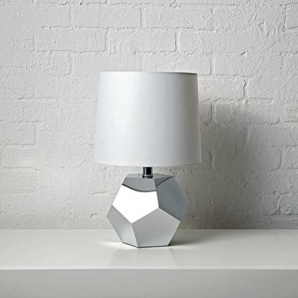 Geometric Silver Lamp - Crate and Barrel