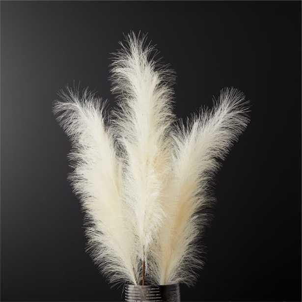 Faux Pampas Grass Ivory Stem - Set of 3 - CB2