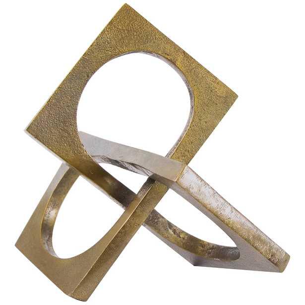 """Regina Andrew Design Emil 10 1/4""""W Brass Aluminum Sculpture - Style # 569H0 - Lamps Plus"""