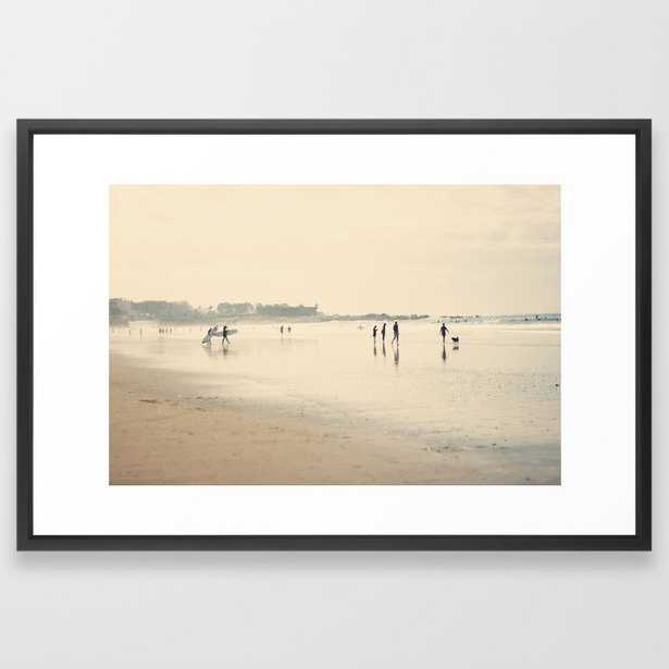 Beach Life Ii Framed Art Print by Ingrid Beddoes Photography - Vector Black - LARGE (Gallery)-26x38 - Society6
