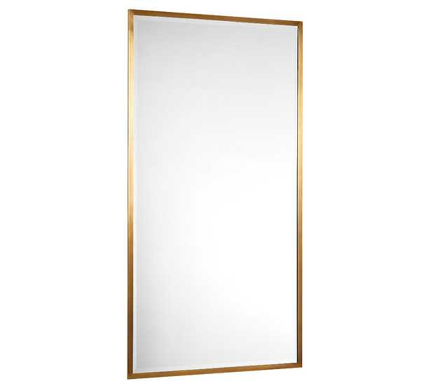 """Layne Floor Mirror, Brass - 36"""" x 66"""" - Pottery Barn"""