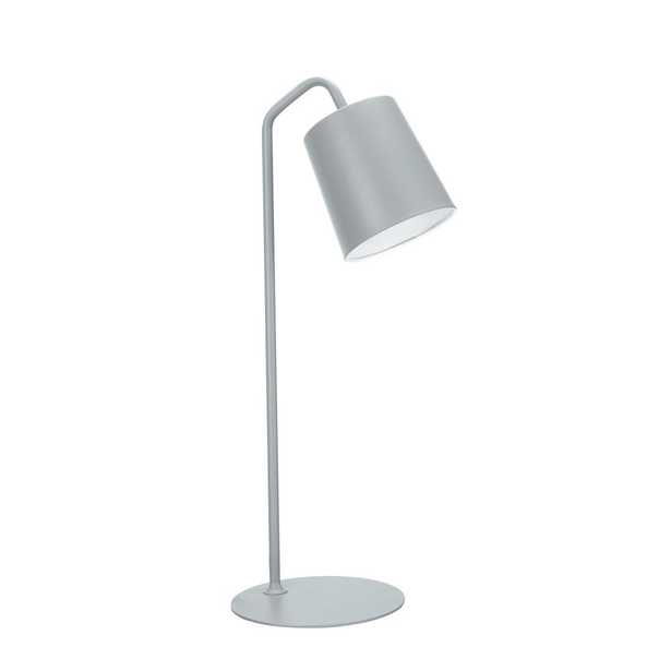 Aspen Creative Corporation 23 in. Milky Grey Desk Lamp with Metal Lamp Shade - Home Depot