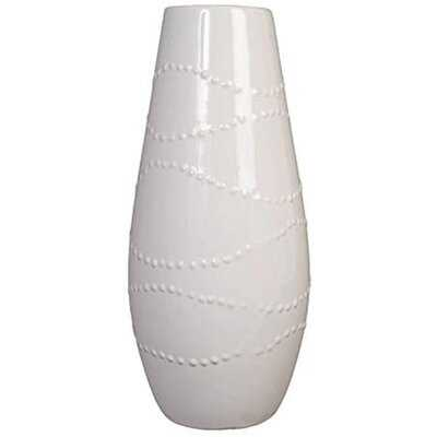 """Fawzia White 12"""" Ceramic Table Vase - Wayfair"""