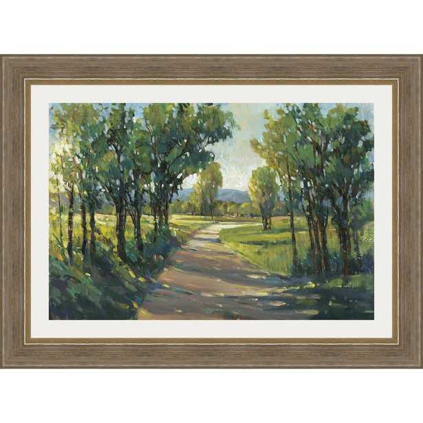 Somersethouse Publishing 35.5 in. x 47.5 in. 'lush Landscape II' by Tim O'Toole Framed Wall Art, Green - Home Depot