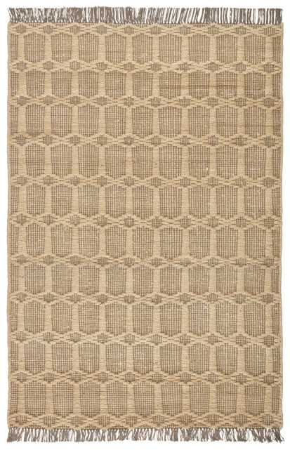 Thierry Natural Trellis Dark Taupe/ Gray Area Rug (8'X10') - Collective Weavers