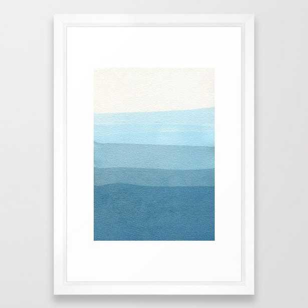 Blue Layers Framed Art Print by Georgiana Paraschiv - Vector White - SMALL-15x21 - Society6