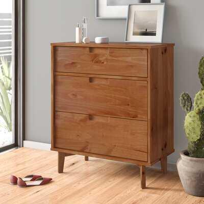 Groove Handle Wood 3 Drawer Dresser - AllModern