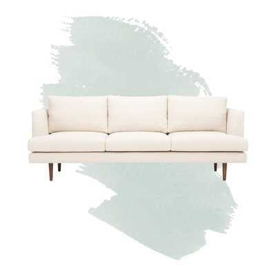 """84"""" Recessed Arm Sofa in Cream - Wayfair"""
