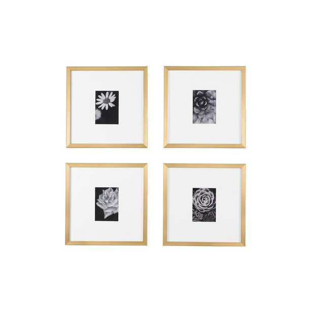 StyleWell Gold Frame with White Matte Gallery Wall Picture Frames (Set of 4) - Home Depot