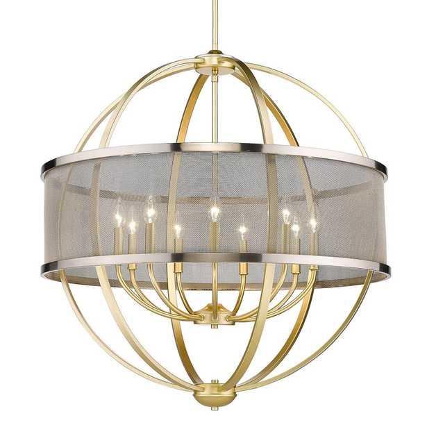 Golden Lighting Colson 9-Light Olympic Gold Globe Chandelier - Home Depot