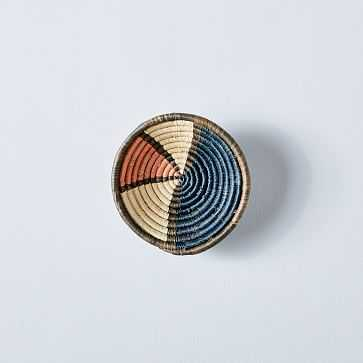 Woven Colorblocked Wall Basket, Small - West Elm