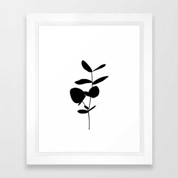 Plant Silhouette Artwork - Saffron Framed Art Print by The Colour Study - Vector White - X-Small-10x12 - Society6