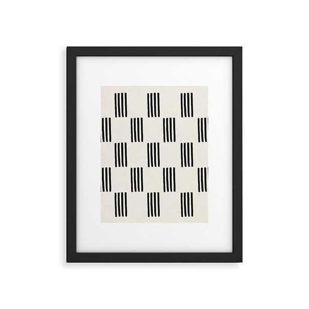 """Formation by Rose Beck - Modern Framed Art Print Black 18"""" x 24"""" - Wander Print Co."""