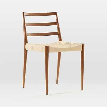 Holland Dining Chair, Walnut, Wood leg - West Elm