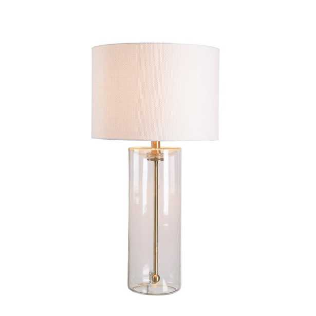 Manor Brook Perkins 26 in. Clear Table Lamp with Drum Shade - Home Depot